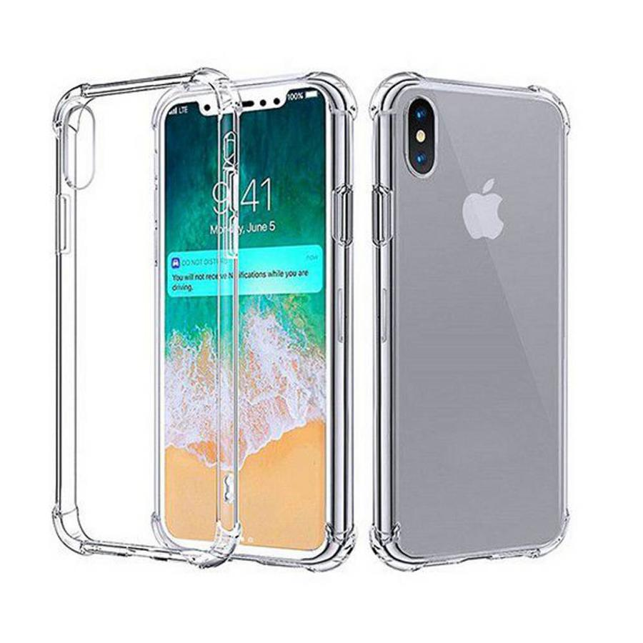 Backcover Shockproof TPU + PC voor Apple iPhone Xs Max Transparant