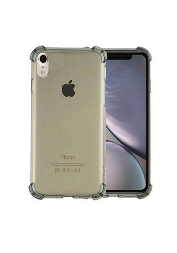 Colorfone Shockproof TPU 1.5mm iPhone Xr Transparant Zwart
