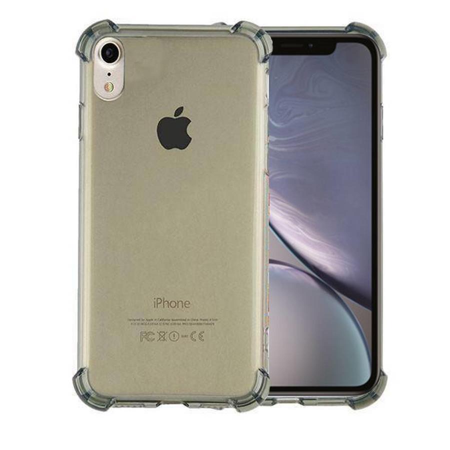 Backcover Shockproof TPU 1.5mm Apple iPhone Xr Transparant Zwart