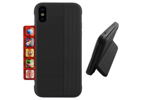 Colorfone Card Stand iPhone Xs Max Zwart