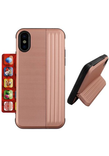 Colorfone Stojak na karty iPhone Xs Max Rose Gold