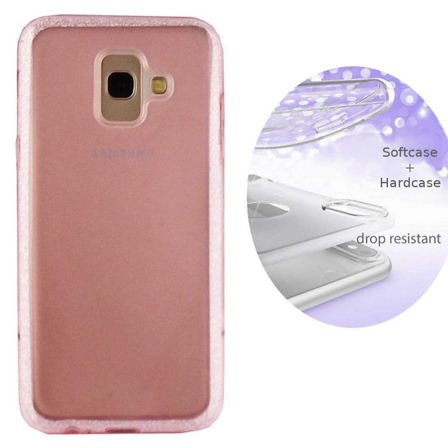 BackCover Layer TPU + PC Samsung J6 Plus Roze
