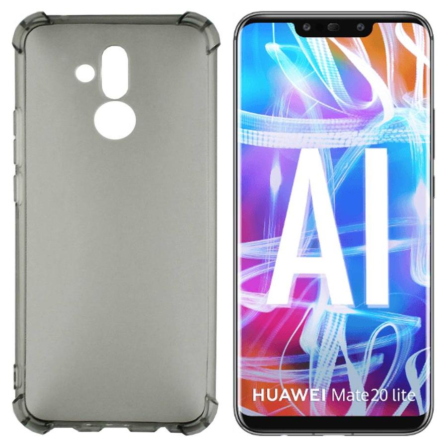 Backcover Shockproof TPU 1.5mm Huawei Mate 20 Lite Transparant Zwart