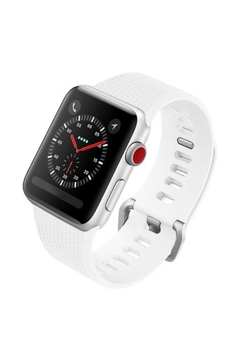 Colorfone Silicon Bandje 42mm Apple Watch Wit