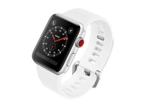 Colorfone Silicon Bandje 42 MM Apple Watch Wit