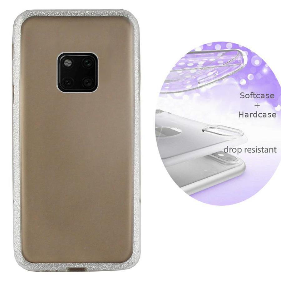 BackCover Layer TPU + PC Huawei Mate 20 Pro Zilver