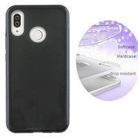 BackCover Layer TPU + PC Huawei P Smart Plus / Nova 3i Zwart