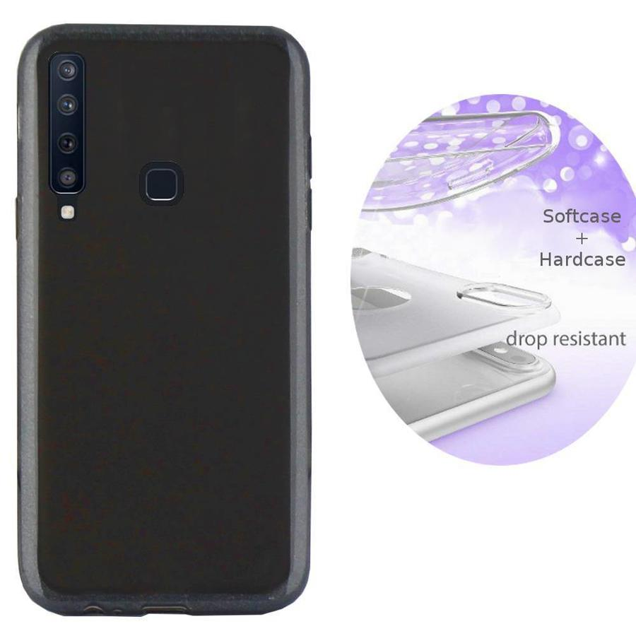 BackCover Layer TPU + PC Samsung A9 2018 Zwart