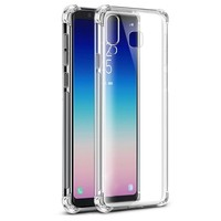 Backcover Shockproof TPU + PC voor Samsung A9 2018 Transparant