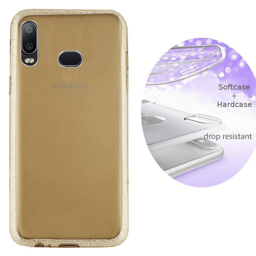 BackCover Layer TPU + PC Samsung A6s Gold