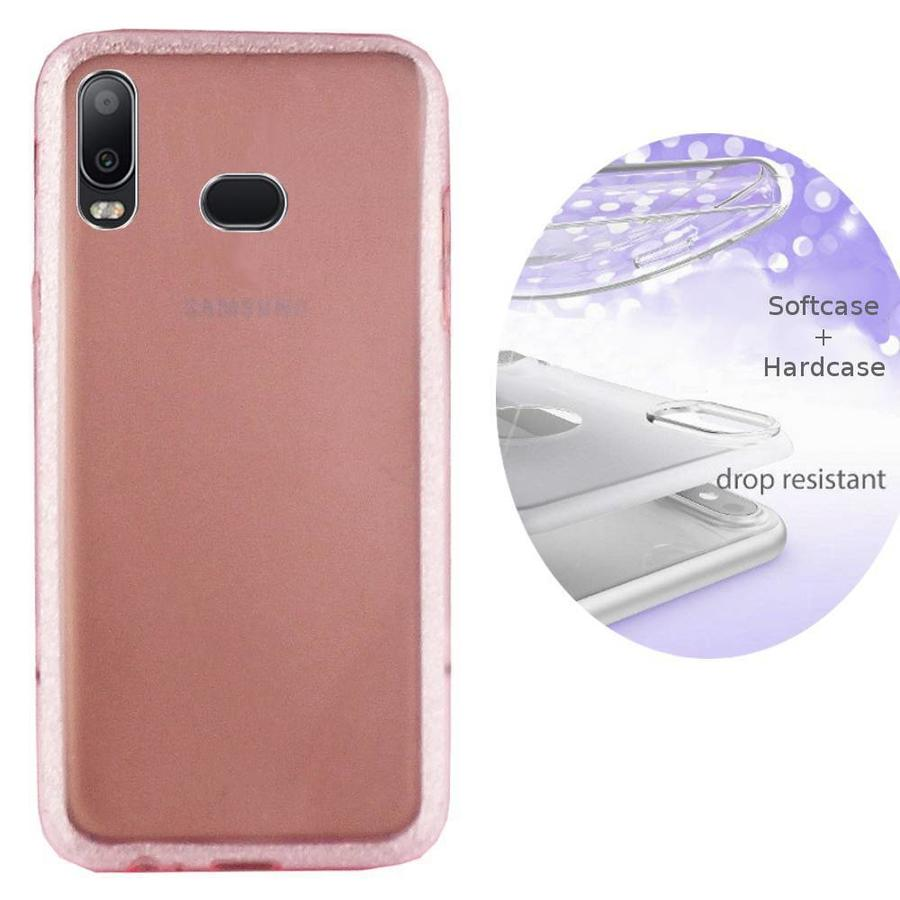 BackCover Layer TPU + PC Samsung A6s Roze