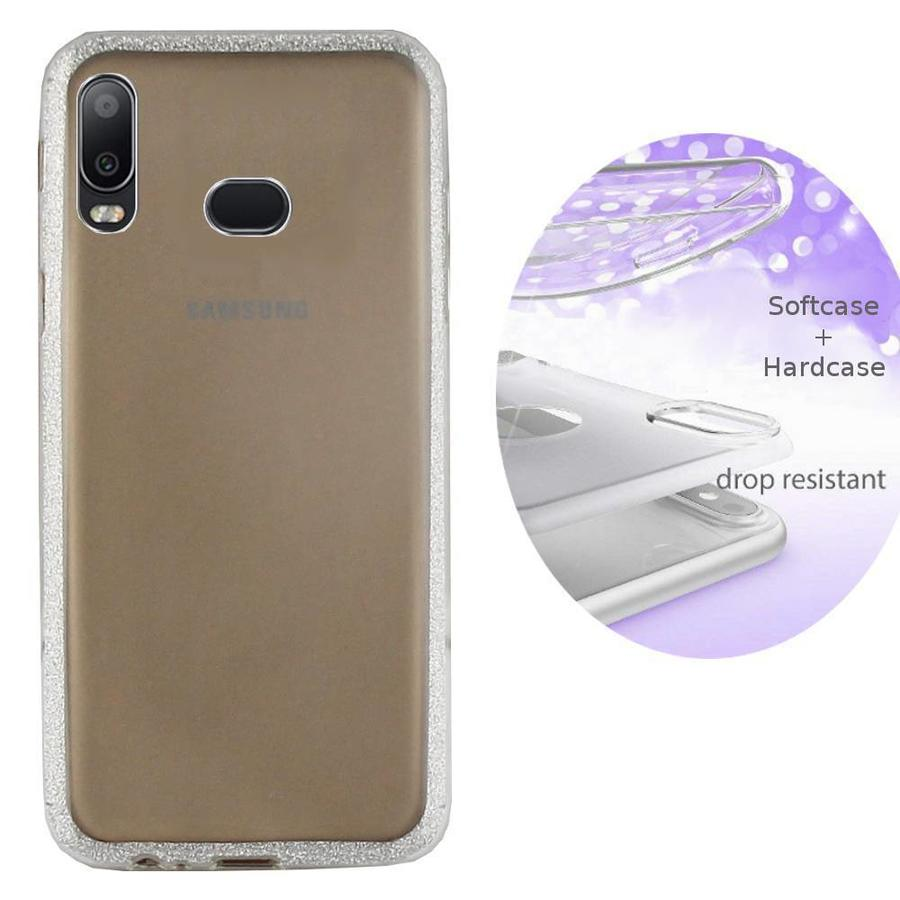 BackCover Layer TPU + PC Samsung A6s Silber