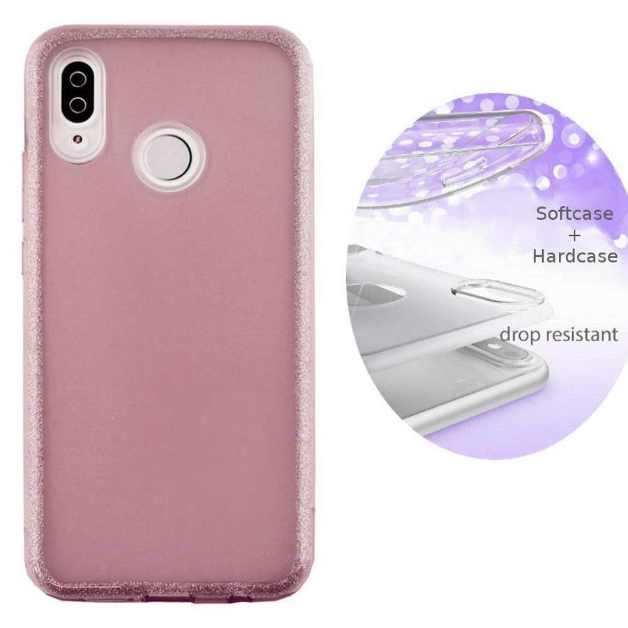 BackCover Layer TPU + PC Huawei Y9 2019 Roze