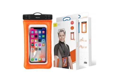 "Baseus Waterproof Cover Universal up to 6"" Orange"