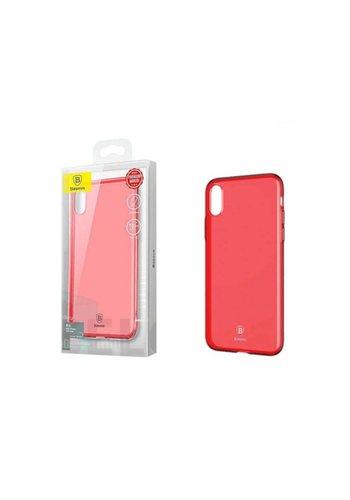 Baseus Ultra Slim TPU Hoesje iPhone X/Xs Tr. Rood