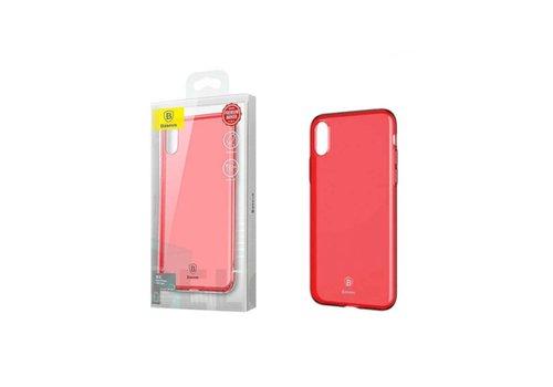 Baseus Ultra Slim TPU Case iPhone X/Xs Tr. Red
