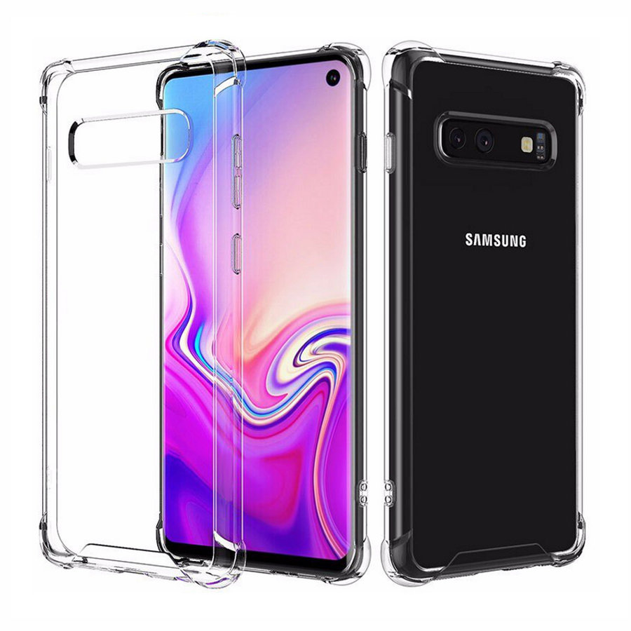 Backcover Shockproof TPU + PC voor Samsung S10E Transparant