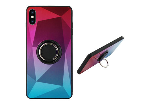 Colorfone BackCover Ring Aurora iPhone Xs Max Pink+Blue