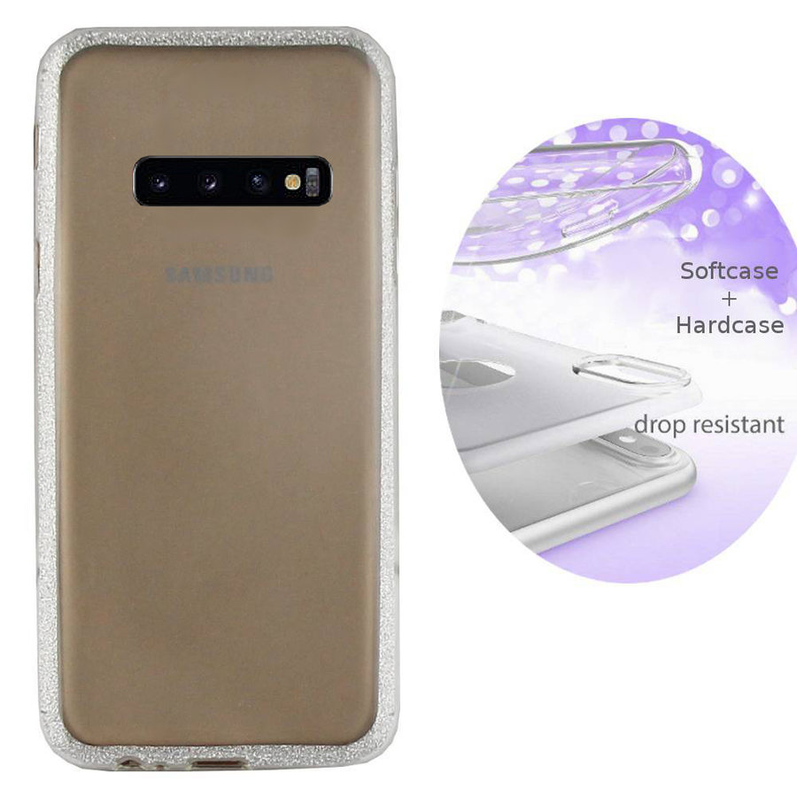 BackCover Layer TPU + PC Samsung S10 Plus Zilver