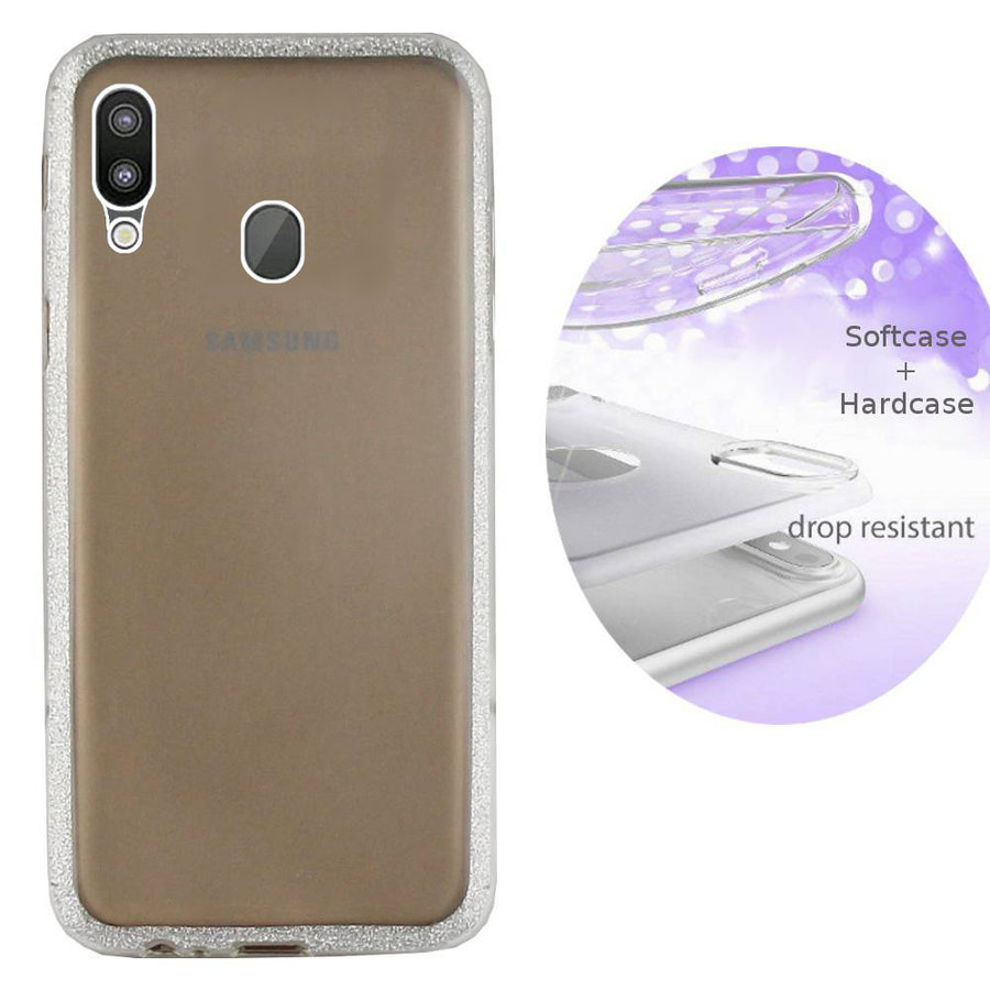 BackCover Layer TPU + PC Samsung M20 Zilver