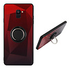 Colorfone BackCover Ring Aurora voor Samsung A6 2018 Rood+Zwart