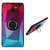 Colorfone BackCover Ring Aurora voor Samsung A7 2018 Roze+Blauw