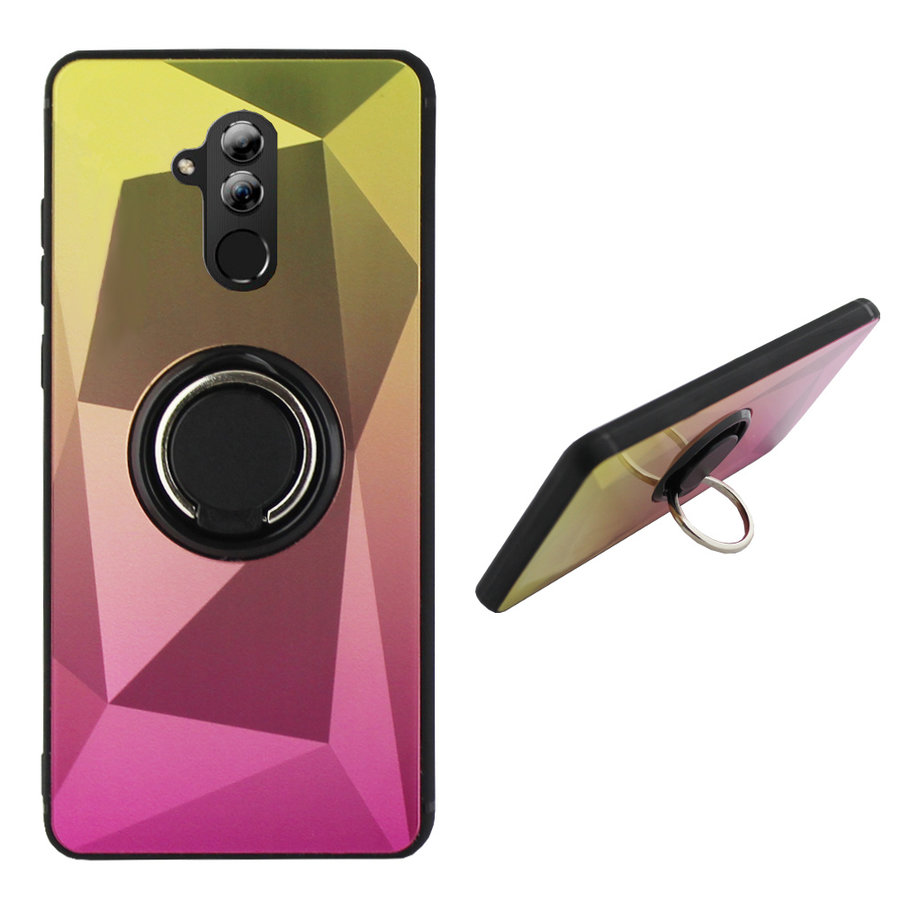 BackCover Ring Aurora für Huawei Mate 20 Lite Gold + Pink
