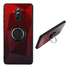 Colorfone BackCover Ring Aurora voor Huawei Mate 20 Lite Rood+Zwart