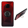 Colorfone BackCover Ring Aurora voor Huawei Mate 20 Pro Rood+Zwart
