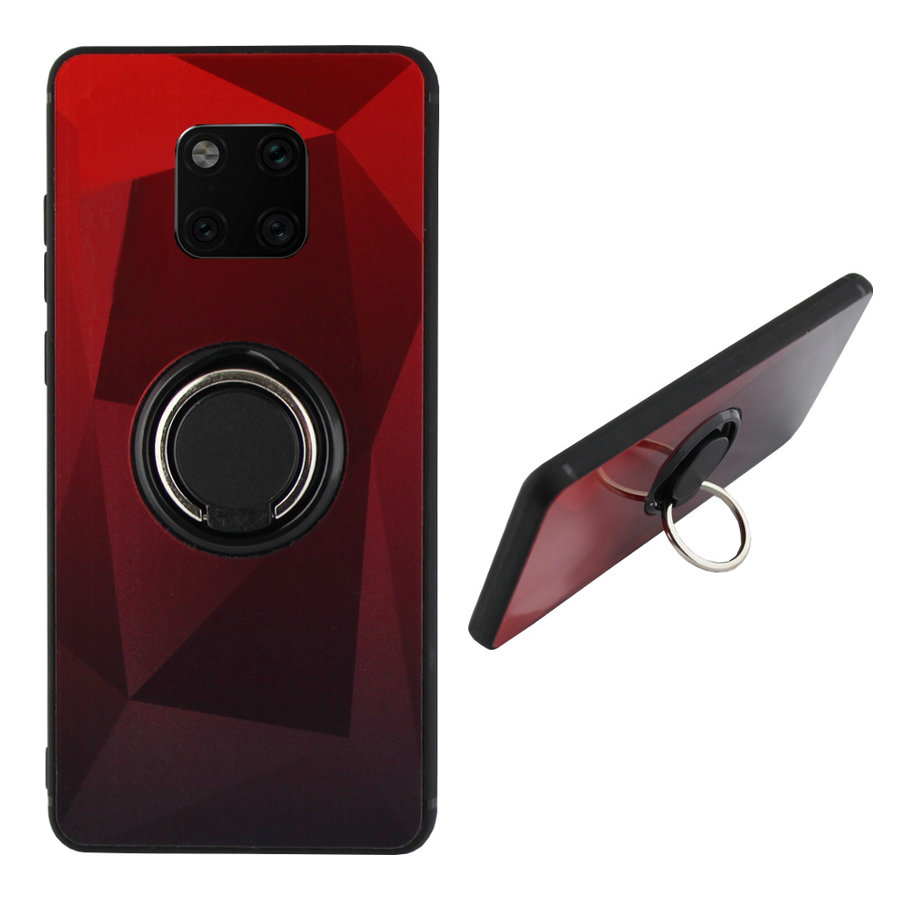 BackCover Ring Aurora voor Huawei Mate 20 Pro Rood+Zwart