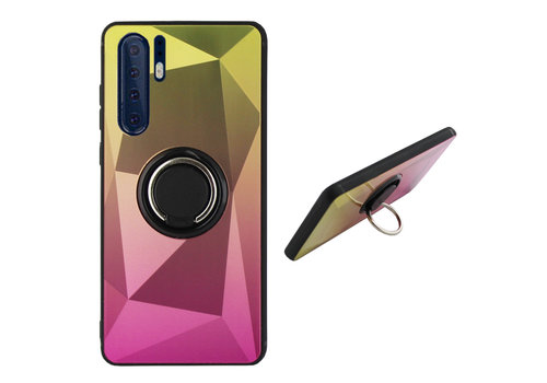 Colorfone BackCover Ring Aurora P30 Pro Goud+Roze