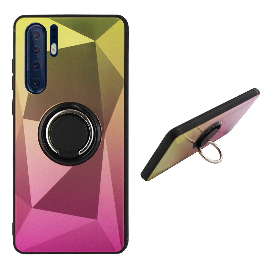 BackCover Ring Aurora für Huawei P30 Pro Gold + Pink