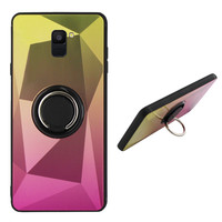 BackCover Ring Aurora voor Samsung A6 2018 Goud+Roze