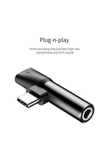 Baseus Splitter Type C / 3.5MM Headphone Jack Black