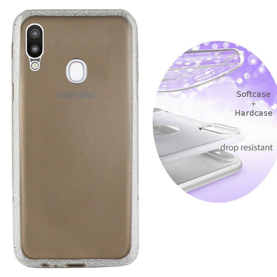 BackCover Layer TPU + PC Samsung A20/A30 Zilver
