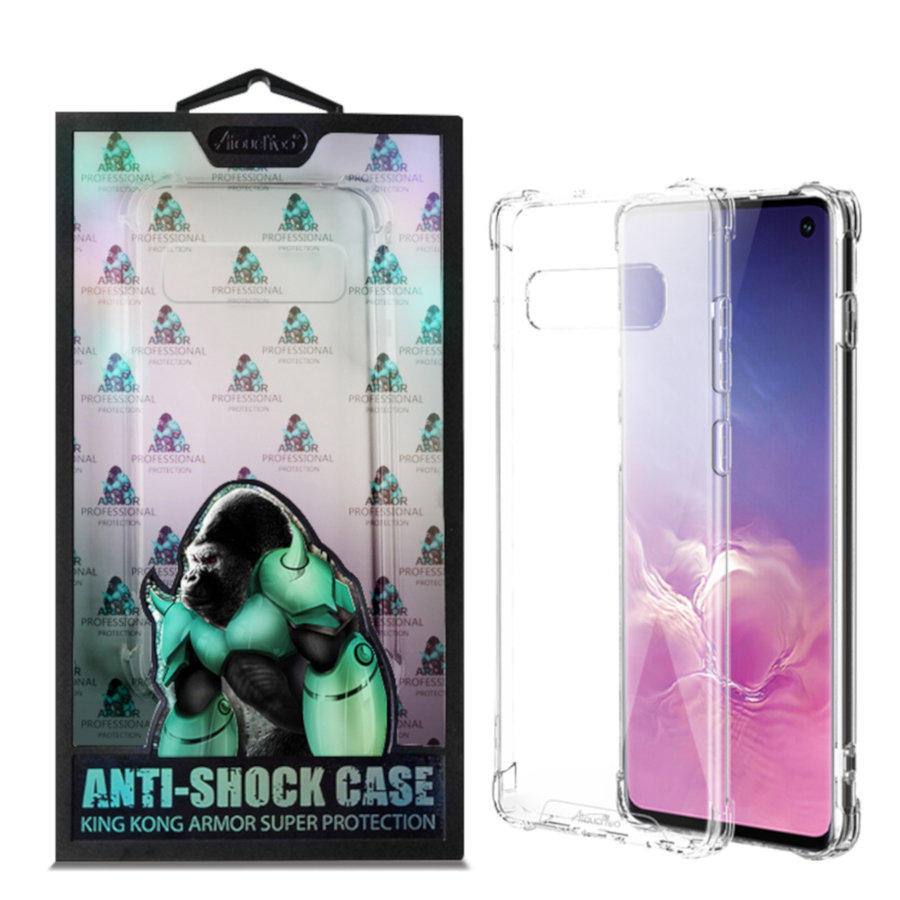 BackCover Anti-Shock TPU + PC voor Samsung S10E Transparant