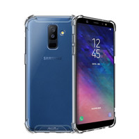 Backcover Anti-Shock TPU + PC voor Samsung A6 Plus 2018 Transparant