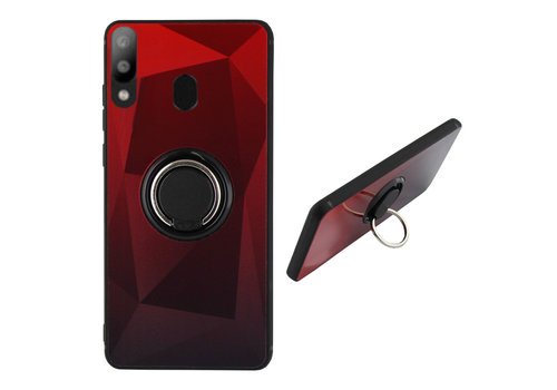Colorfone BackCover Ring Aurora M20 Red+Black