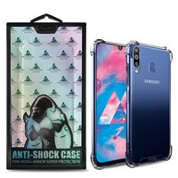 Backcover Anti-Shock TPU + PC voor Samsung M30 Transparant