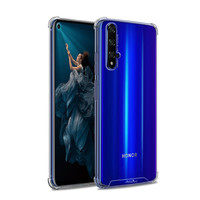 Backcover Anti-Shock TPU + PC voor Huawei Honor 20 Transparant