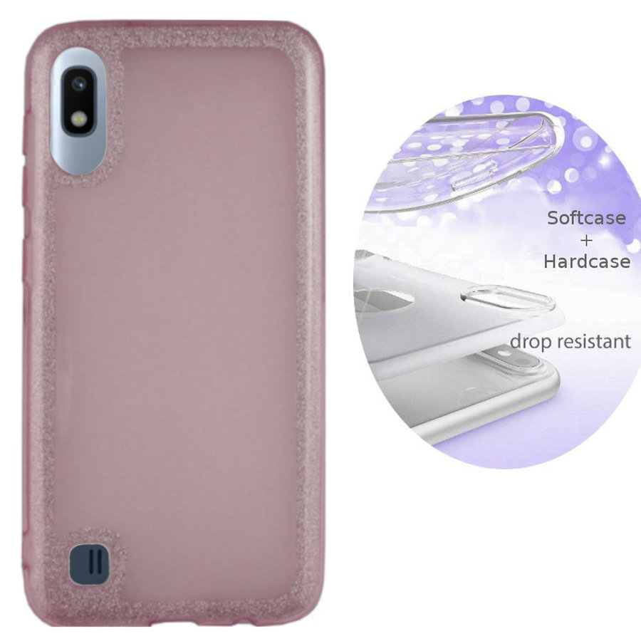 BackCover Layer TPU + PC Samsung A10 Roze
