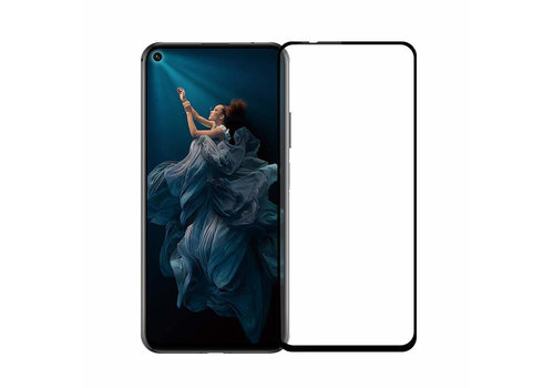 Colorfone Glass 2.5D Honor 20 Pro Transparant Zwart