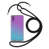 Backcover Shockproof Koord TPU + PC voor Samsung A50 Transparant