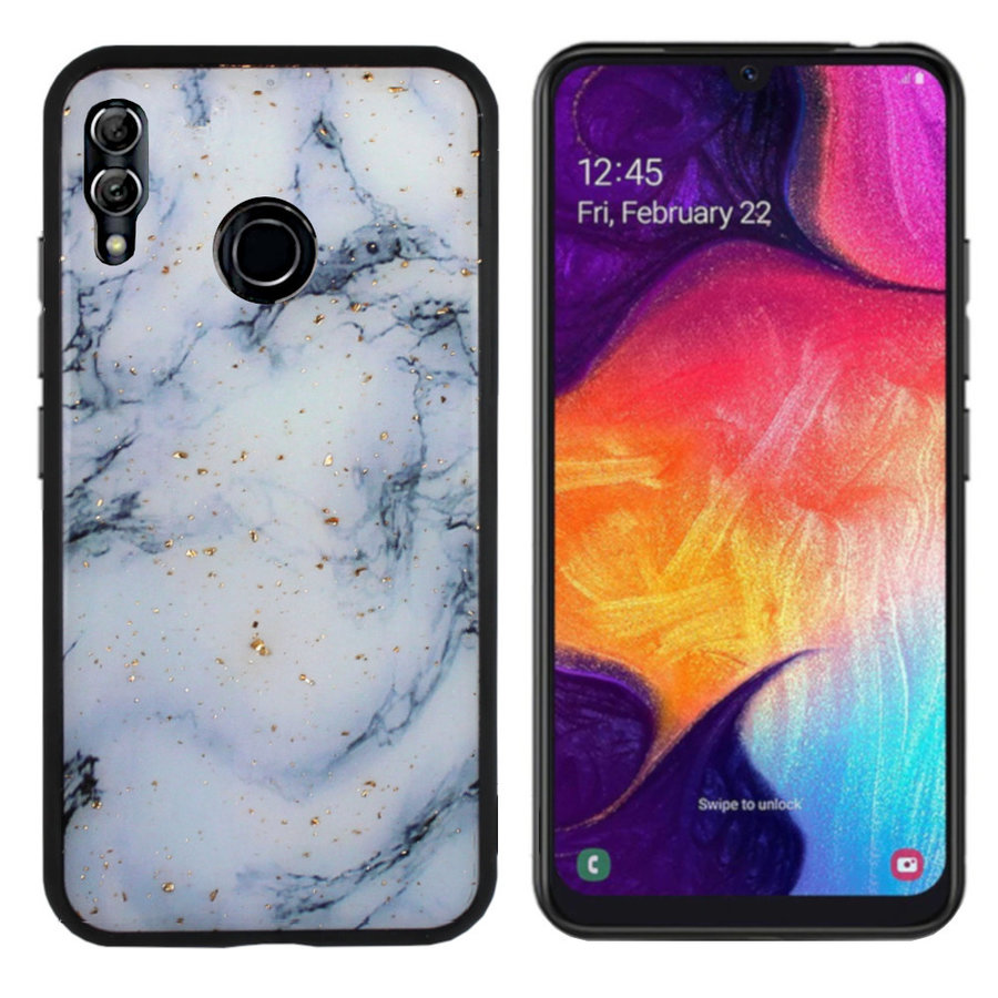 BackCover Marble Glitter voor Samsung M20 Blauw