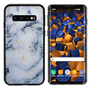 Colorfone BackCover Marble Glitter voor Samsung S10 Plus Blauw