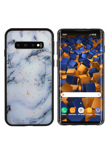 Colorfone Glitter Marble S10 Plus Blauw