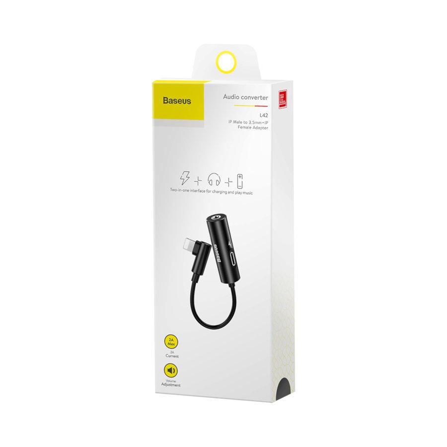Splitter Lightning / 3.5MM Headphone Jack Zwart