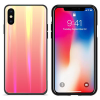 BackCover Aurora Glass voor Apple iPhone X/XS Oranje