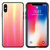 Colorfone BackCover Aurora Glass voor Apple iPhone Xs Max Oranje