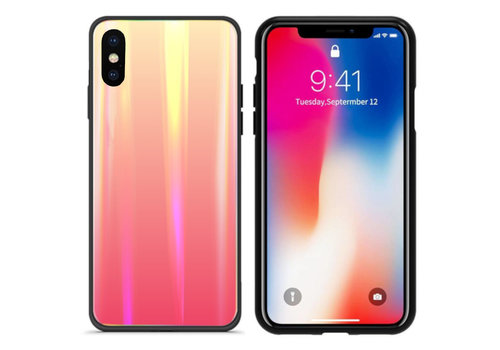 Colorfone Aurora Glass iPhone Xs Max Oranje